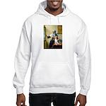 Woman w/Pitcher - Beagle Hooded Sweatshirt