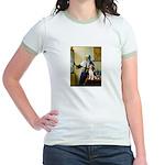 Woman w/Pitcher - Beagle Jr. Ringer T-Shirt