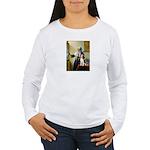 Woman w/Pitcher - Beagle Women's Long Sleeve T-Shi