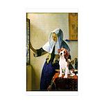 Woman w/Pitcher - Beagle Sticker (Rectangle 50 pk)