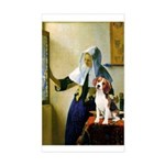 Woman w/Pitcher - Beagle Sticker (Rectangle)