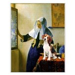 Woman w/Pitcher - Beagle Small Poster