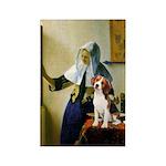 Woman w/Pitcher - Beagle Rectangle Magnet