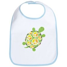 Peace Sign Turtle Bib