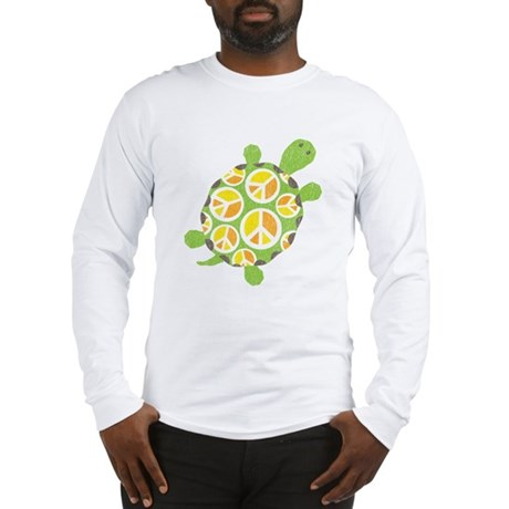 Peace Sign Turtle Long Sleeve T-Shirt