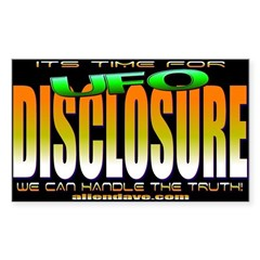 Time For Disclosure Rectangle Decal