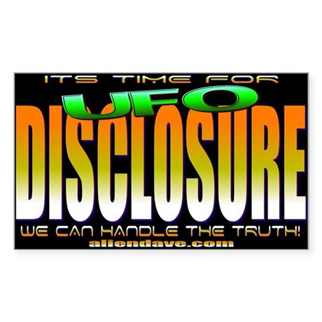 Time For Disclosure Rectangle Sticker