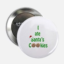 "I ate Santa's Cookies 2.25"" Button (10 pack)"