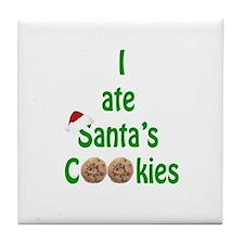 I ate Santa's Cookies Tile Coaster