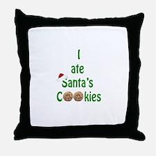 I ate Santa's Cookies Throw Pillow