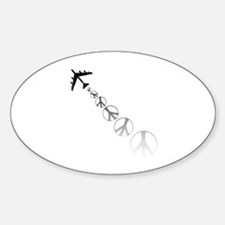 Make Peace Not War Theme Oval Decal