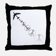 Make Peace Not War Theme Throw Pillow