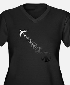 Make Peace Not War Theme Women's Plus Size V-Neck