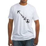 Make Peace Not War Theme Fitted T-Shirt