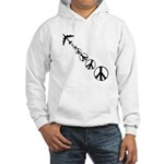 Make Peace Not War Theme Hooded Sweatshirt
