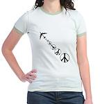Make Peace Not War Theme Jr. Ringer T-Shirt