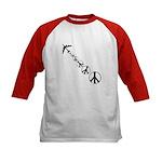 Make Peace Not War Theme Kids Baseball Jersey