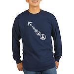 Make Peace Not War Theme Long Sleeve Dark T-Shirt