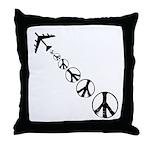 Make Peace Not War Theme Throw Pillow