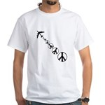 Make Peace Not War Theme White T-Shirt