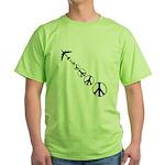 Make Peace Not War Green T-Shirt