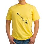 Make Peace Not War Yellow T-Shirt