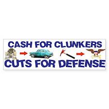 Cash Clunkers Bumper Bumper Sticker
