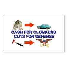 Cash Clunkers Rectangle Decal