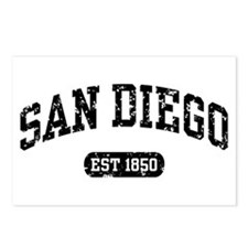 San Diego Est 1850 Postcards (Package of 8)