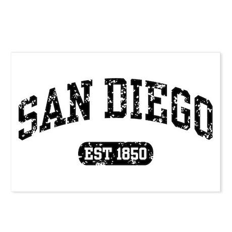 San Diego Est 1850 Postcards (Package of 8)