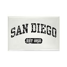 San Diego Est 1850 Rectangle Magnet