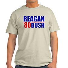 """Reagan/Bush '80"" Color T-Shirt"