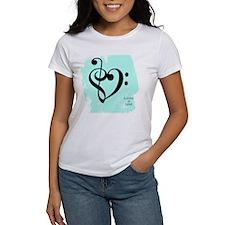 Cute Treble clef heart Tee