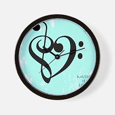 Cute Bass clef Wall Clock