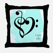 Funny Bass clef Throw Pillow