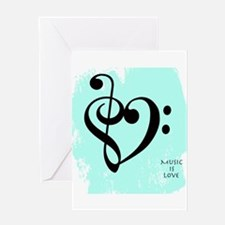 musicislove Greeting Cards