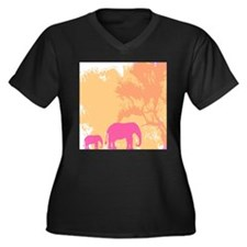 elephants Plus Size T-Shirt