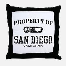 Property of San Diego Throw Pillow