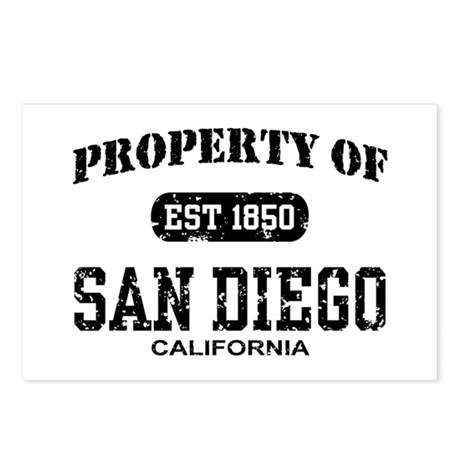 Property of San Diego Postcards (Package of 8)