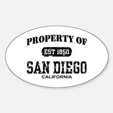Property of San Diego Oval Decal