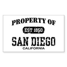 Property of San Diego Rectangle Decal