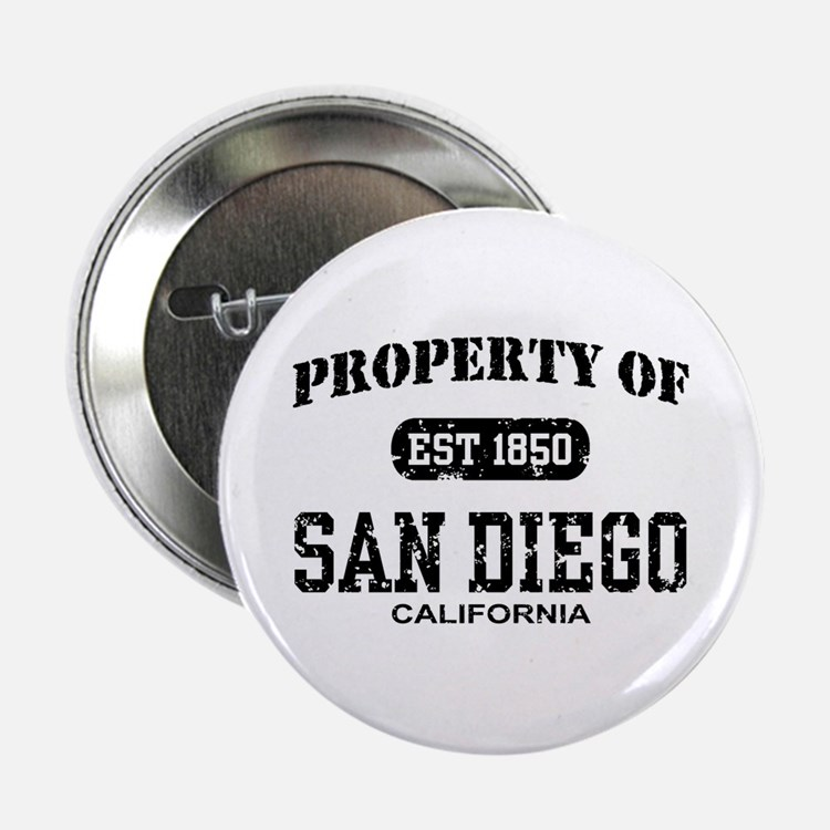 "Property of San Diego 2.25"" Button"