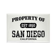 Property of San Diego Rectangle Magnet