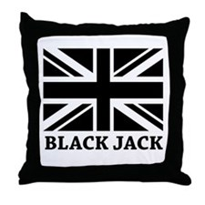 Black Jack Throw Pillow