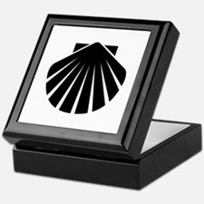 Black Scallop Keepsake Box