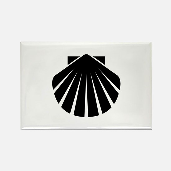 Black Scallop Rectangle Magnet