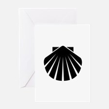 Black Scallop Greeting Card