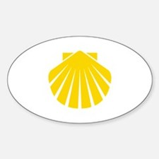 Yellow Scallop Oval Decal
