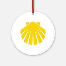 Yellow Scallop Ornament (Round)