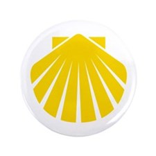 "Yellow Scallop 3.5"" Button"